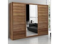 🌷💚🌷PAYMENT ON DELIVERY 🌷💚🌷 NEW FULL MIRROR BERLIN SLIDING DOORS WARDROBE IN DIFFERENT SIZES