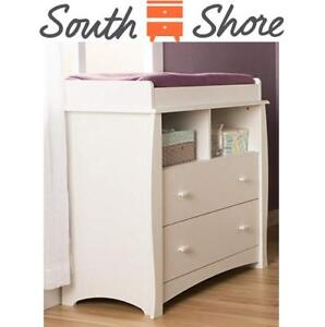 NEW SOUTH SHORE CHANGING TABLE 11428 201474039 BEEHIVE COLLECTION WHITE