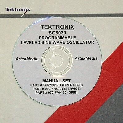Tektronix Tek Sg5030 Sine Wave Generator Ops Gp-ib Service Manual 3-volumes