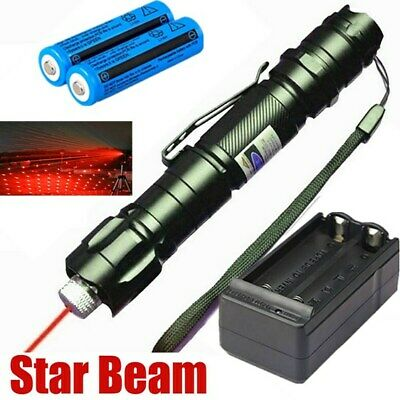 650nm 900miles Red Laser Pointer Pen Visible Lazer Star Beam 18650battcharger