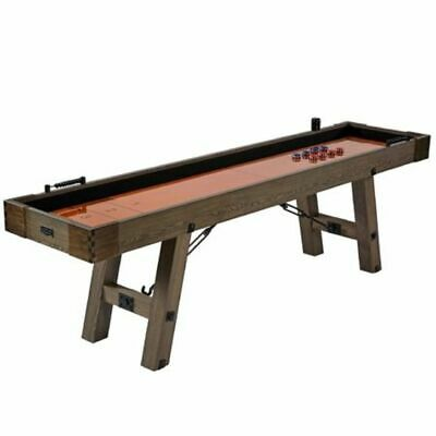 Barrington 9 Ft. Solid Wood Rustic Shuffleboard Family Game Table Furniture NEW