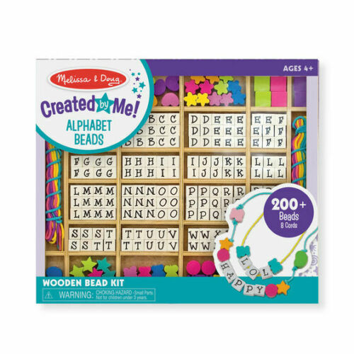 Created by Me! Alphabet Beads Wooden Bead Kit from Melissa & Doug 3774