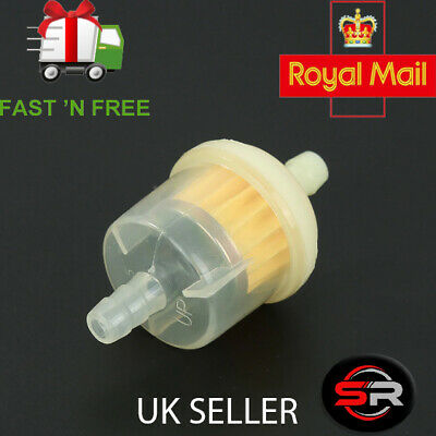 Universal 6MM Motorcycle Small Engine Inline Carb Fuel Filter ride on lawnmower