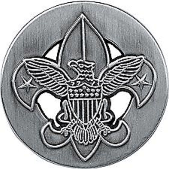 BOY SCOUT BIG UNIVERSAL EMBLEM HAT JACKET COAT PEWTER PIN JAMBOREE JAMBO OA CAMP