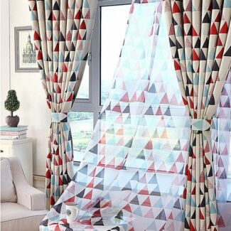 Kids Boy Shop Blockout Curtains Triangle Blackout Red Blue Green Bradbury Campbelltown Area Preview