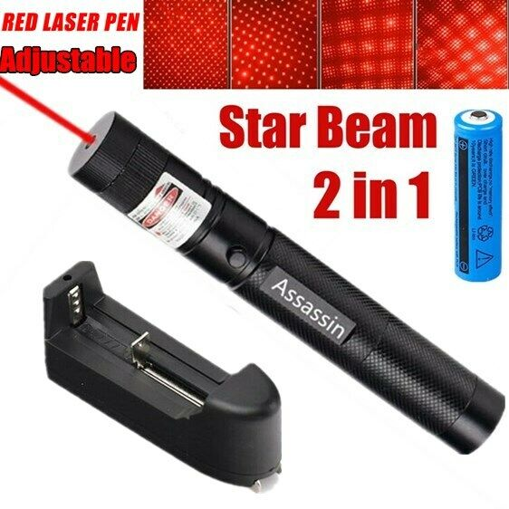 900Miles 650nm 303 Red Laser Pointer Lazer Pen Visible Beam Light+18650+Charger
