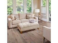 SOREN ANTIQUE ASH SOLID OAK FLOORING 1.48 M² PACK..with free underlay and trims