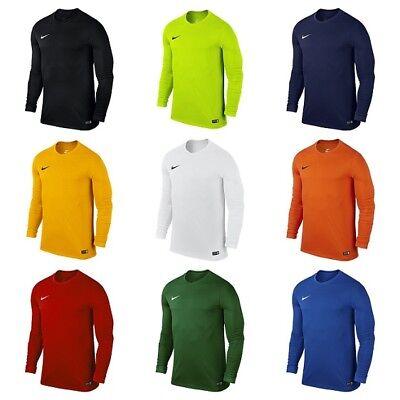 (Nike Park Kids Boys Football Sports T Shirt Long Sleeve Junior Training Tops)