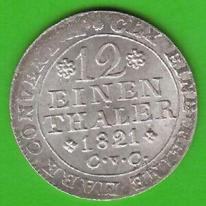 Braunschweig 1/12 Thaler 1821 Gem nswleipzig