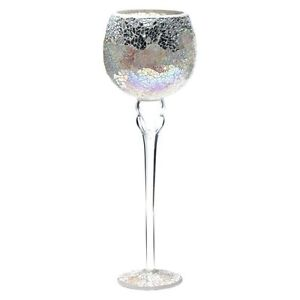 Casa-Uno-Mosaic-Goblet-Candle-Holder-Silver-NEW-Zanui