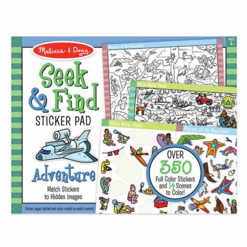 Seek & Find Sticker Pad Activity Book - Adventure from Melissa & Doug 30151