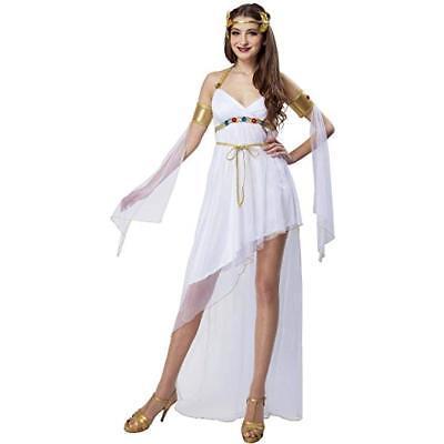 White Greek Goddess 3 piece Short Dress Costume Medium 8-10 - White Greek Goddess Costume