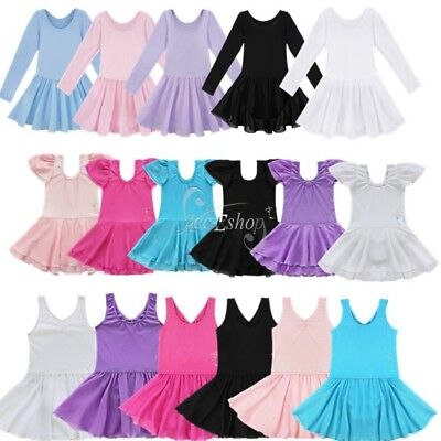 Girl Gymnastics Ballet Dress Kid Leotard Tutu Skirt Dance Ballerina Costume - Kids Ballerina Costume