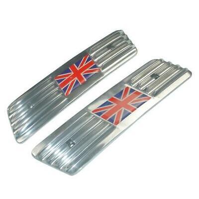 Seitenwand-gitter (Lambretta Gp / Dl Union Jack Uk-Flagge Poliertes Leichtmetall Seitenwand Gitter)