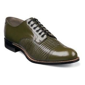 Stacy Adams Green Leather Shoes
