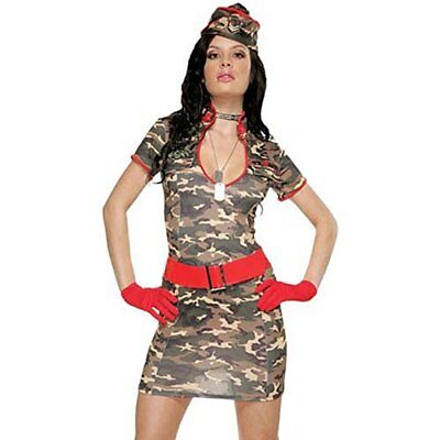 Army Pinup Costume (Army Costume Sexy Pin-Up Girl Soldier Outfit Adult Med Size)