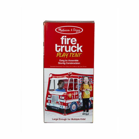 Melissa & Doug Fire Truck Play Tent #32102 NEW