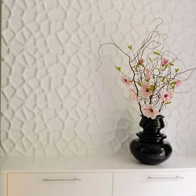 Web 3d Decorative Wall Panels 1 Pcs Abs Plastic Mold For Plaster
