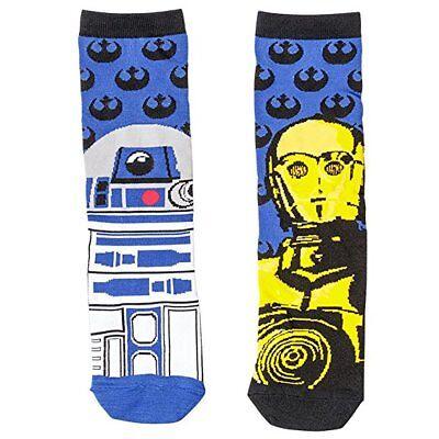 Star Wars Lucasfilm R2 D2 C 32Po Socks 1 Pair New Shoe Size 6 12 Brand New