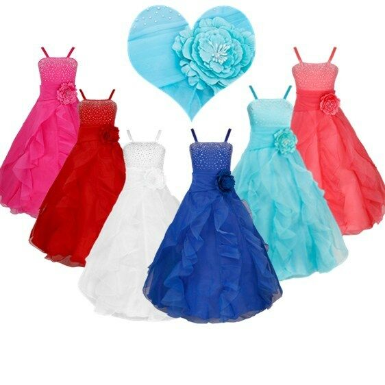 Flower Girl Dress Princess Pageant Wedding Birthday Party Bridesmaid Prom  GownUSD 4.84 · Wedding Flower Girl Dress Sleeveless Lace ... a711cad79f09