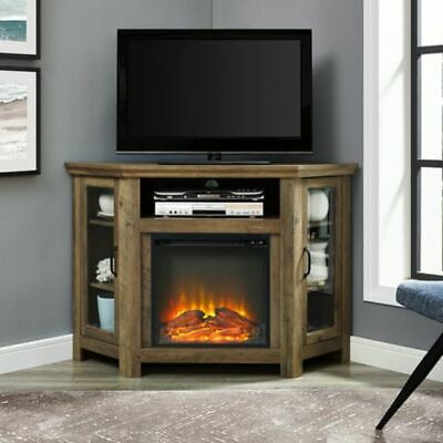 """Electric Fireplace Corner 55"""" TV Stand Media Console Credenz"""