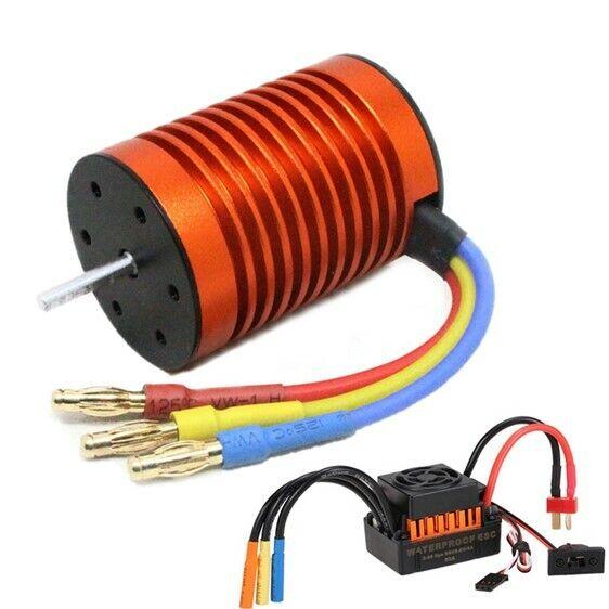 9T 4370KV Brushless Motor + 60A ESC Controller Combo Set for