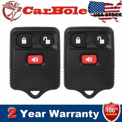 2Pcs Replacement Car Key Fob Keyless Entry Remote Control for Ford F150 3Btn