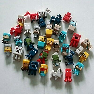 HOT 1.5 cm - 3 cm Minecraft Toys Characters action Figure Toy Cute 36 PCs/lot UK
