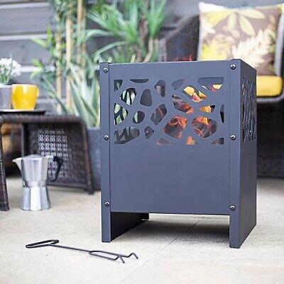 🔥 La Hacienda Steel Fire Basket 🧺 Outdoor Fire Pit Log Burner. BRAND NEW ✅