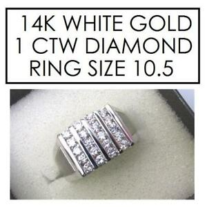 NEW* STAMPED 14K DIAMOND RING 10.5 353650 154292459 JEWELLERY JEWELRY 14K WHITE GOLD 1 CTTW DIAMOND
