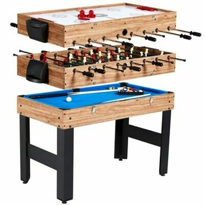 48In 3-In-1 Convertible Combo Family Game Table Foosball Soccer Billiards