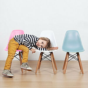 kids junior dsw mcm molded plastic side chair eiffel dowel leg wood eames esque. Black Bedroom Furniture Sets. Home Design Ideas