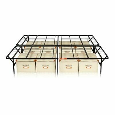 Platform Bed Frame Metal Mattress Foundation Cal King Size B