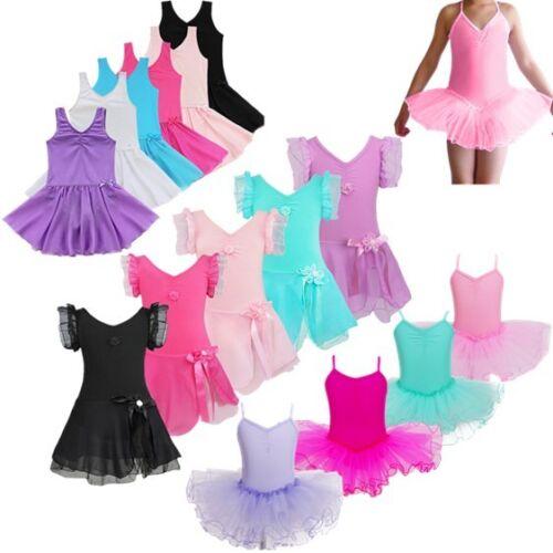 Mädchen Kinder Kleid Partykleid Ballettanzug Trikot Turnanzug Tanzen Ballettbody