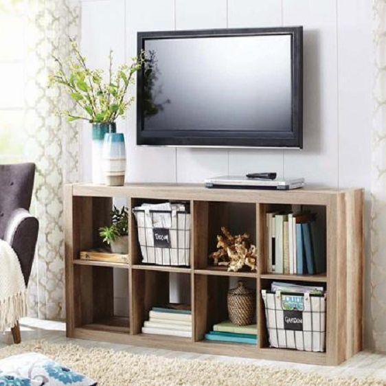 8 Cube Organizer Shelf Totes Bins Cubbies Storage Furniture Wood Cubes Book  NEW