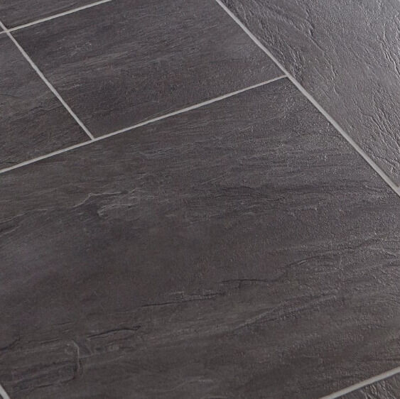 Libretto Black Slate Tile Effect Laminate Flooring 186 M Pack In