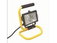 2 portable work lights (decorating, DIY, garage)
