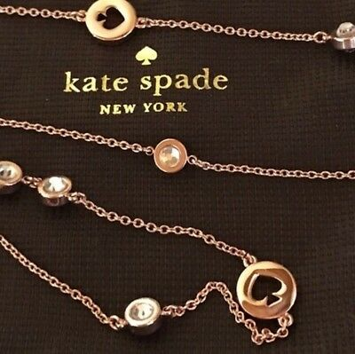 Kate Spade Spot The SPADE Chain Necklace Rose Gold Color, NWT