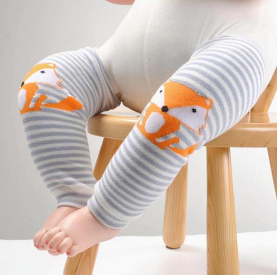 Baby Legs FUCHS blau Kinder Socken Winter Kniestrümpfe Stulpen Junge Tragetuch