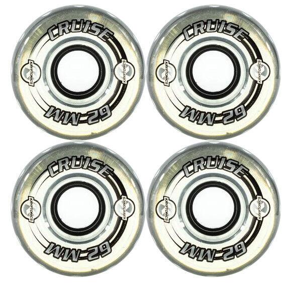 KRYPTONICS CRUISE 62MM 78A CLEAR Longboard Cruiser Skateboard Wheels