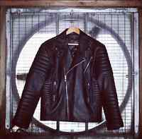 Genuine Lambskin Leather Biker Motorcycle Jacket