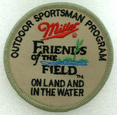 Miller Brewery Beer Patch  Friends Of The Field Outdoor Sportsman Program Patch