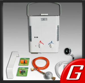 Tragbarer Camping Gas-Durchlauferhitzer 10 kW Eccotemp Propan Campingdusche L5