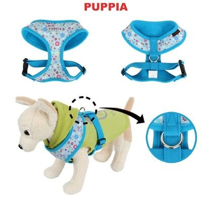 Orion Puppia Dog Harness Blue Print - LARGE and XL Pug