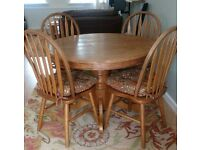 Round table with chairs ideal shabby chic conversion