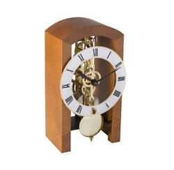 HERMLE Table Skeleton Mantel Clock mechanical 8-day movement cherry Made Germany
