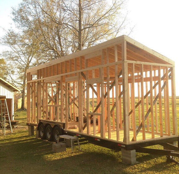 32 Foot Dual Axle Tiny House Foundation and Trailer Frame