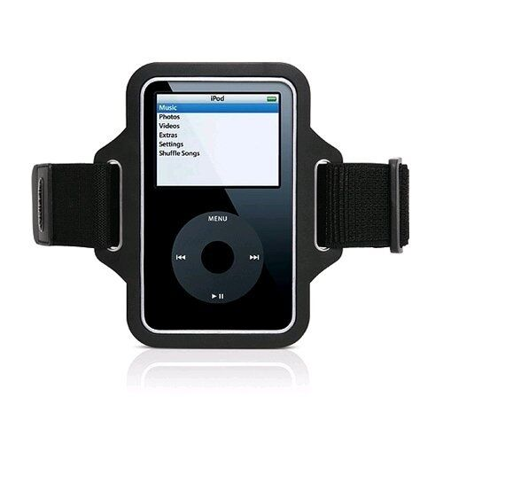 SPORT Armband BLACK Case Streamline for iPod Classic by Griffin