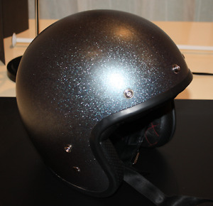 Bell Custom 500 Blue flake motorcycle helmet size XL