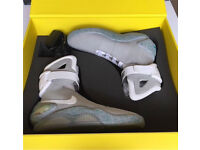 Nike air mags size US9 100% authentic from 2011 eBay auction for Parkinson's Back to the future